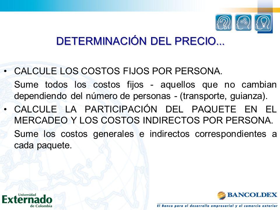DETERMINACIÓN DEL PRECIO...