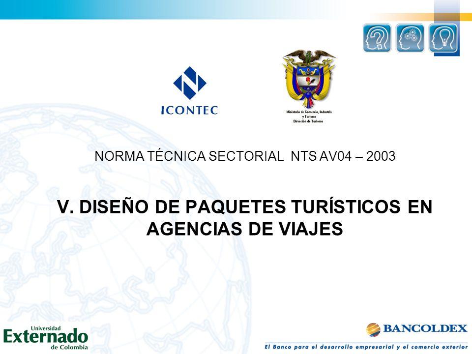 NORMA TÉCNICA SECTORIAL NTS AV04 – 2003 V