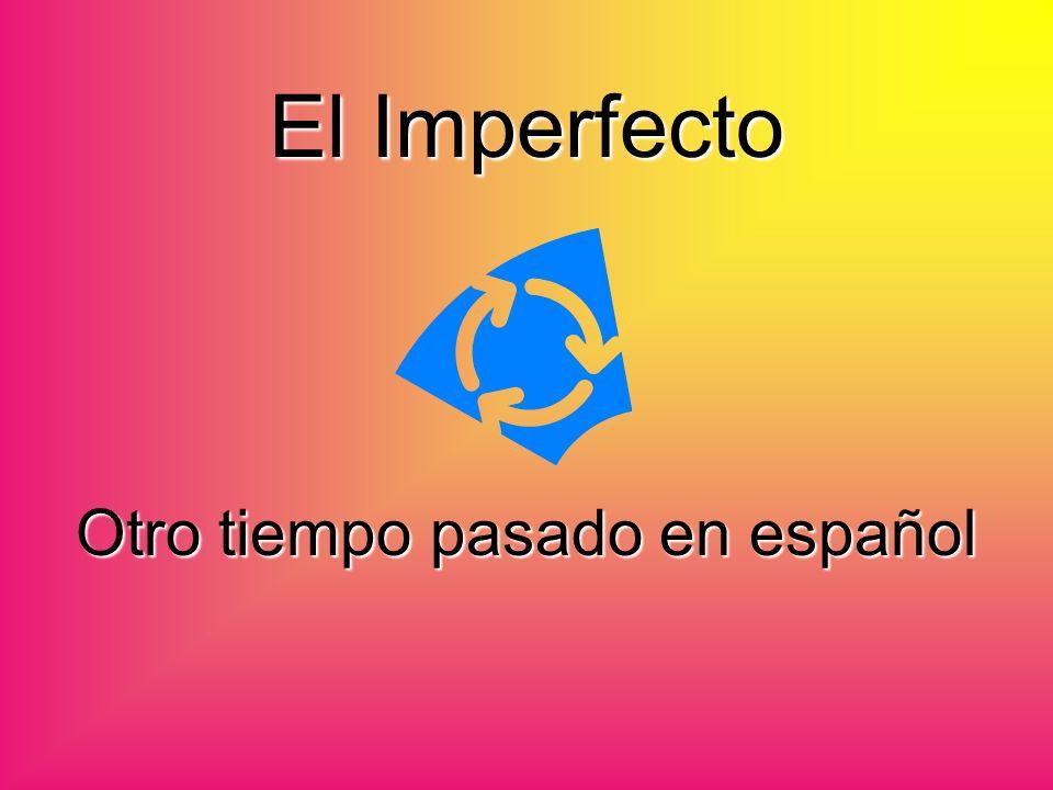El Imperfecto Otro tiempo pasado en español