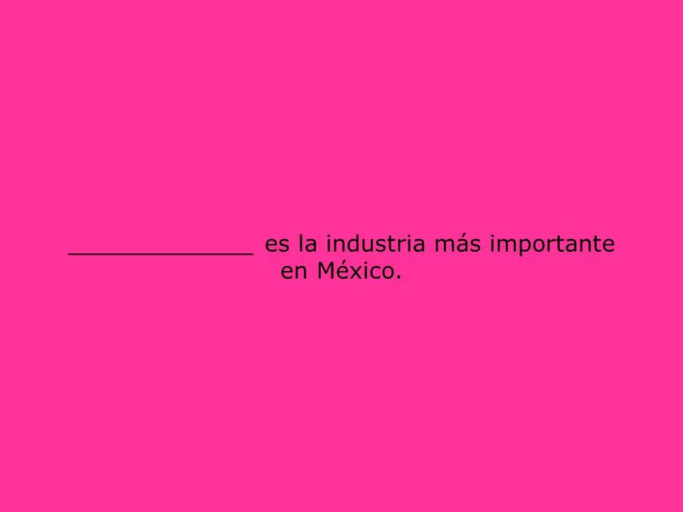 _____________ es la industria más importante en México.
