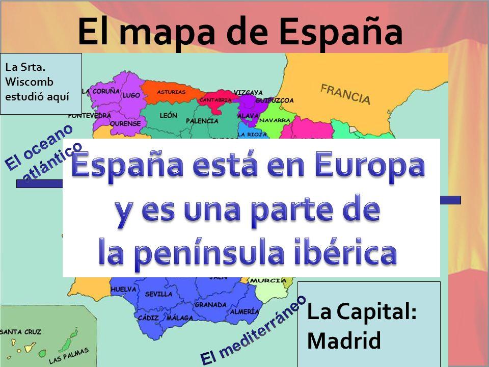 El mapa de España España está en Europa y es una parte de