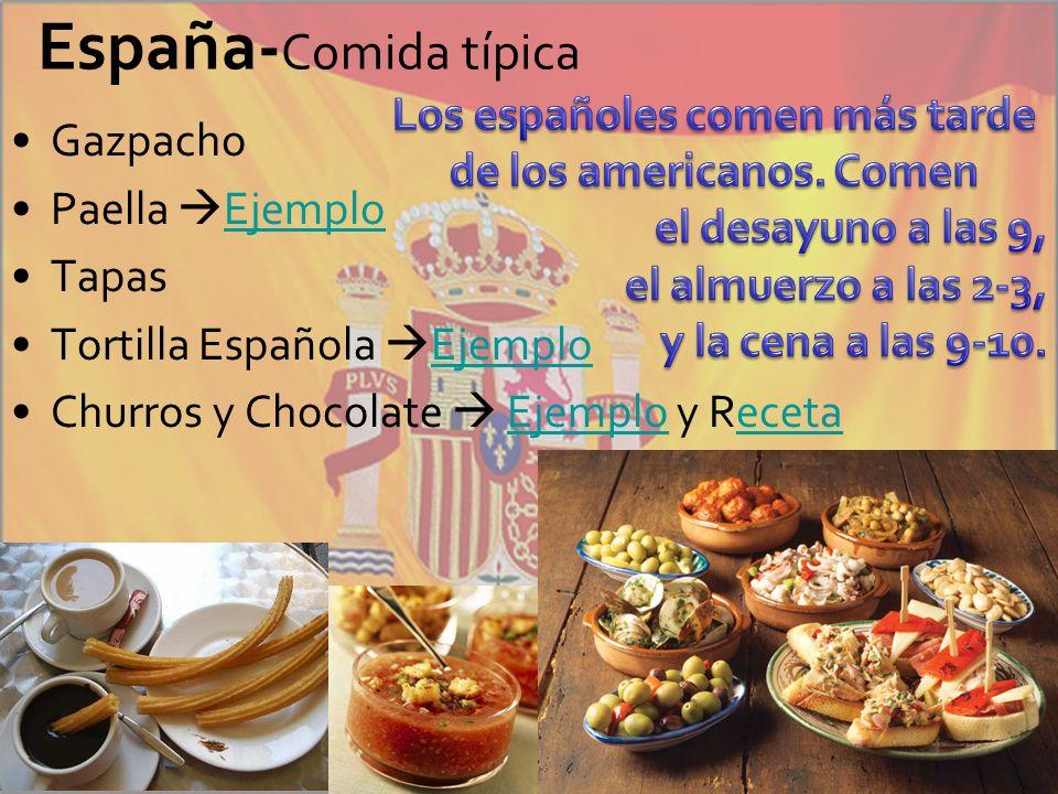 Los españoles comen más tarde de los americanos. Comen