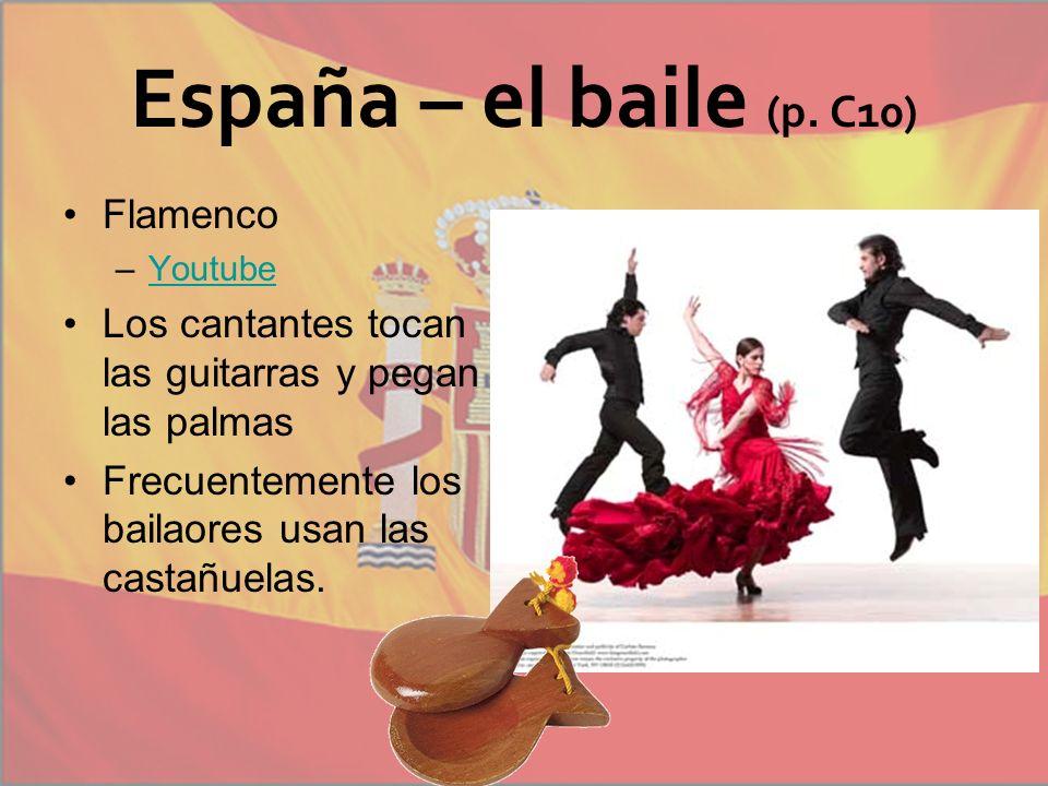 España – el baile (p. C10) Flamenco
