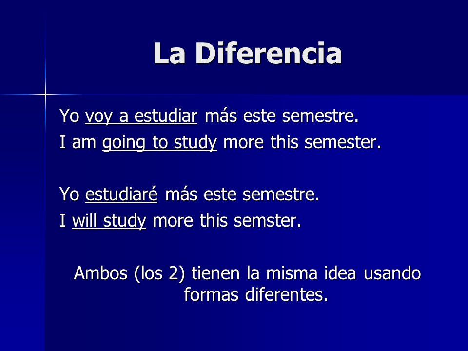 Ambos (los 2) tienen la misma idea usando formas diferentes.