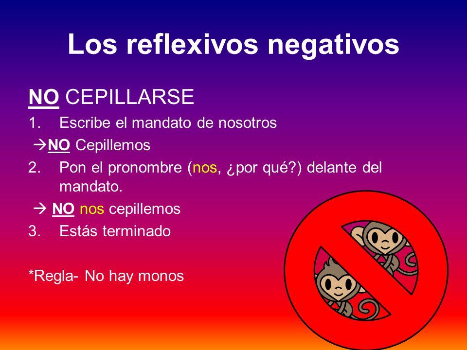 Los reflexivos negativos