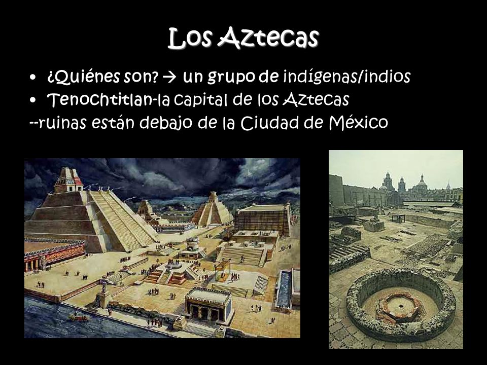 Los Aztecas ¿Quiénes son  un grupo de indígenas/indios