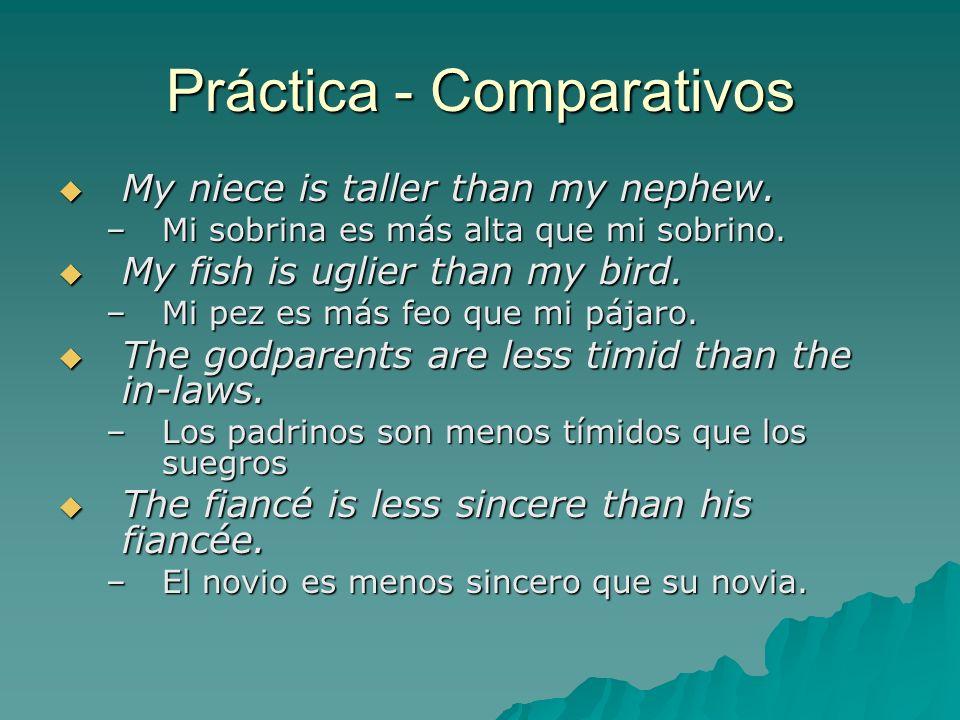 Práctica - Comparativos
