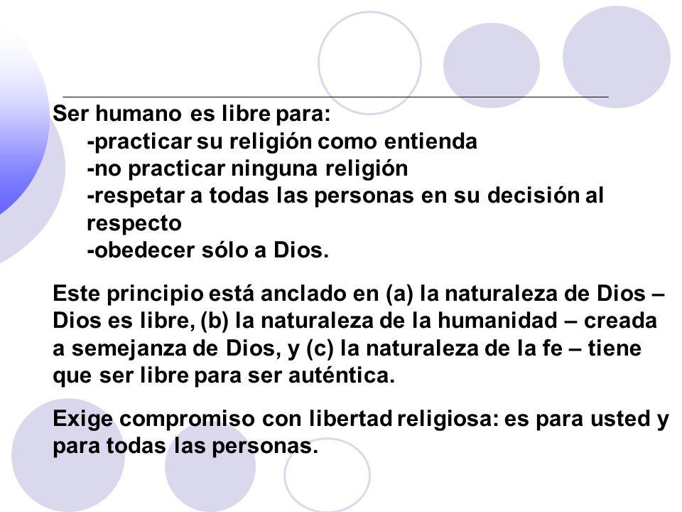 Ser humano es libre para: