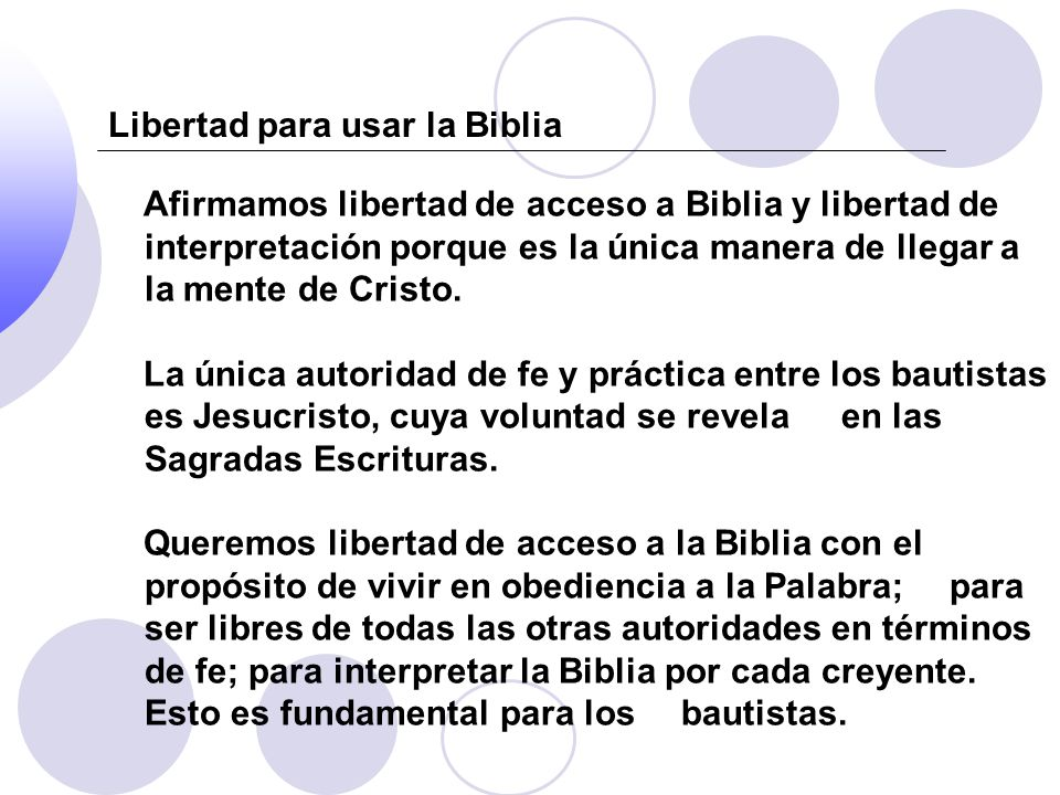 Libertad para usar la Biblia