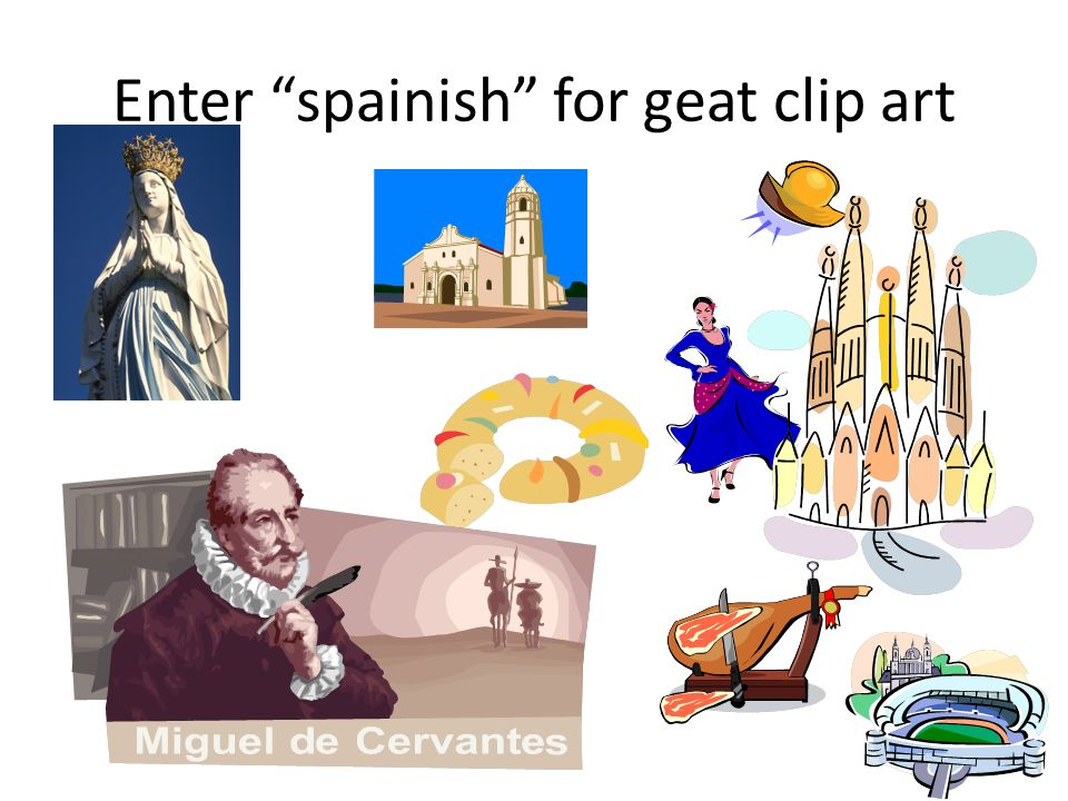 Enter spainish for geat clip art