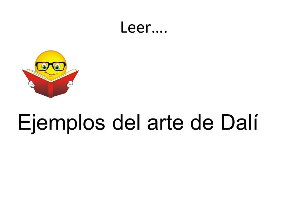 Ejemplos del arte de Dalí