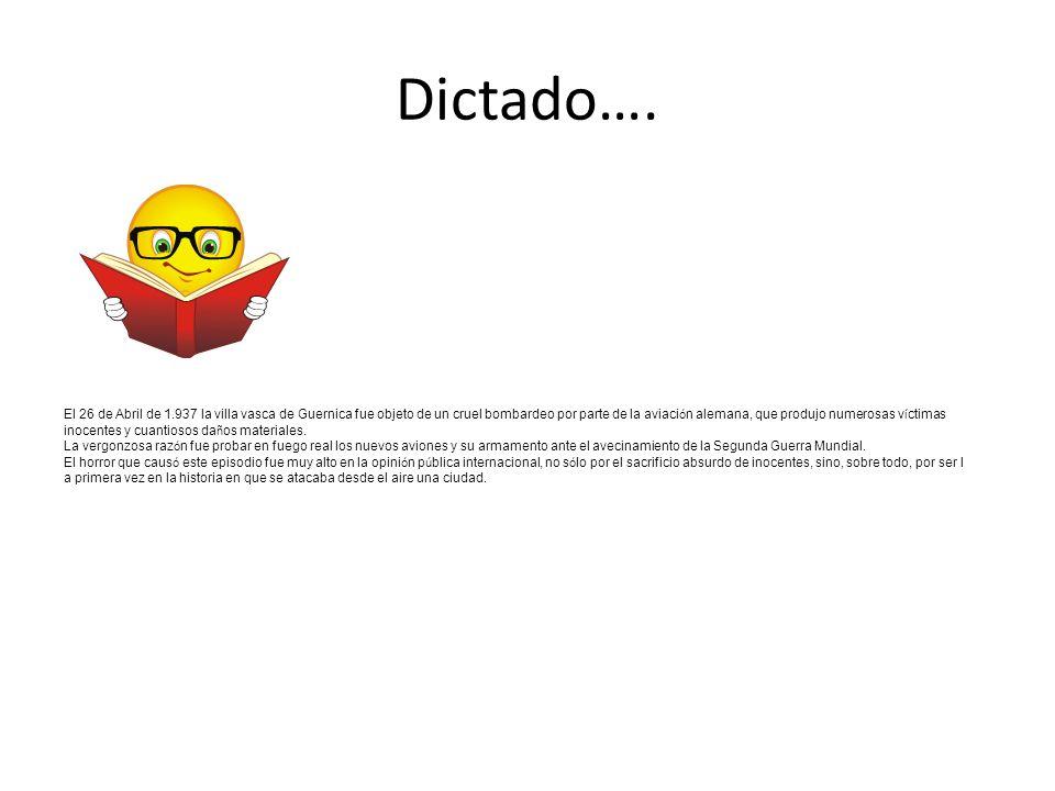 Dictado….