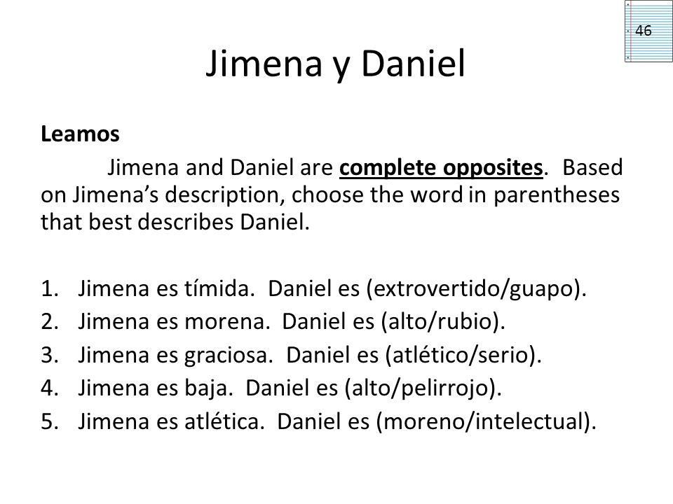 Jimena y Daniel 46. Leamos.