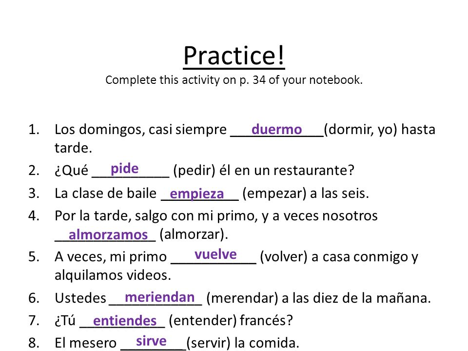 Practice! Complete this activity on p. 34 of your notebook.