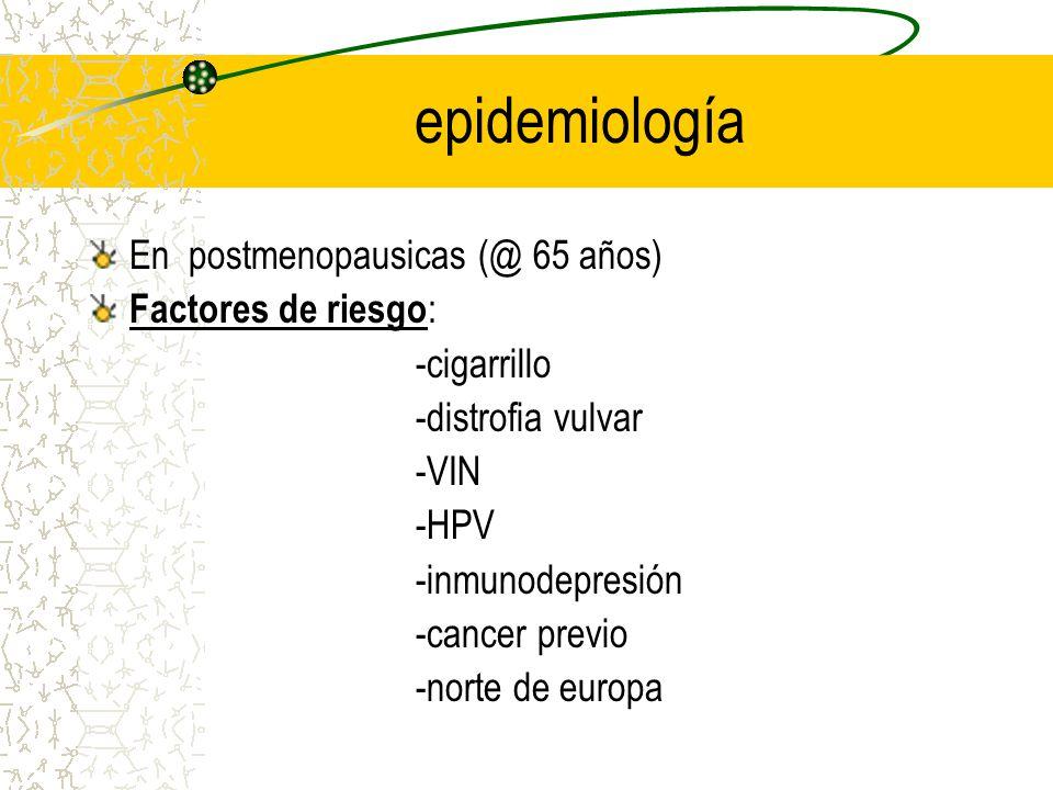 epidemiología En postmenopausicas (@ 65 años) Factores de riesgo: