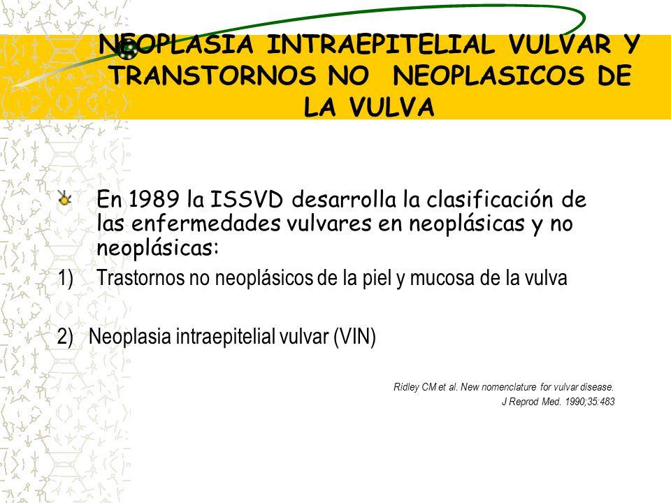 NEOPLASIA INTRAEPITELIAL VULVAR Y TRANSTORNOS NO NEOPLASICOS DE LA VULVA