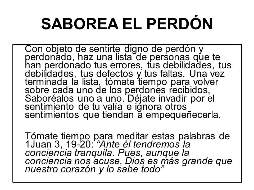 SABOREA EL PERDÓN