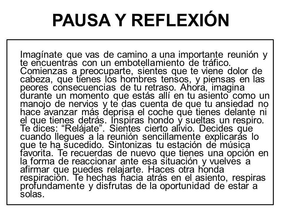 PAUSA Y REFLEXIÓN