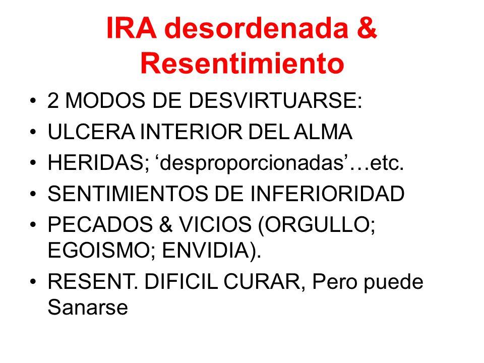IRA desordenada & Resentimiento