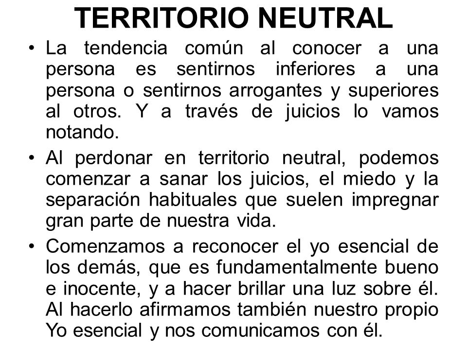 TERRITORIO NEUTRAL