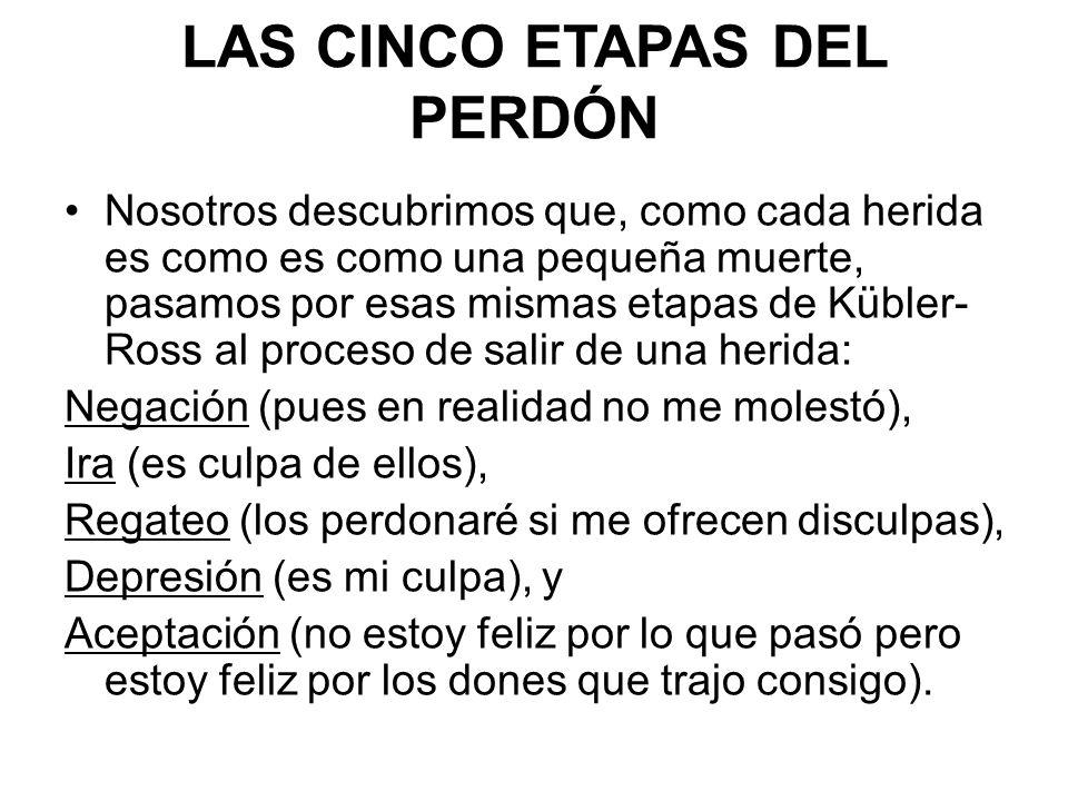 LAS CINCO ETAPAS DEL PERDÓN