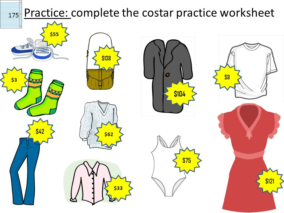 Practice: complete the costar practice worksheet