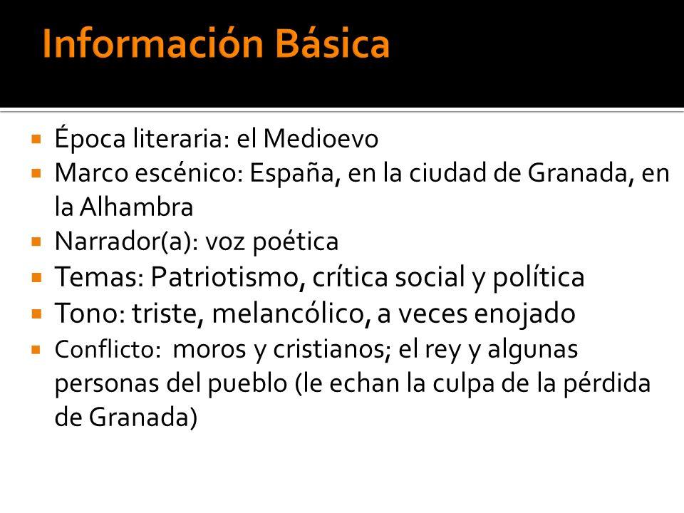 Información Básica Temas: Patriotismo, crítica social y política