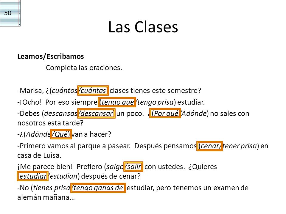 50 Las Clases.