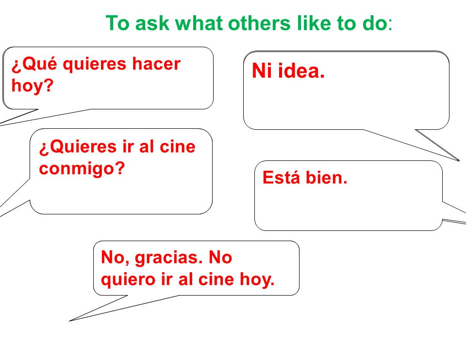 To ask what others like to do: