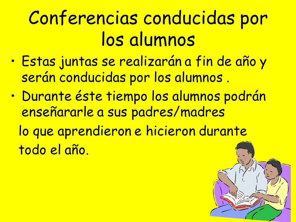 Conferencias conducidas por los alumnos