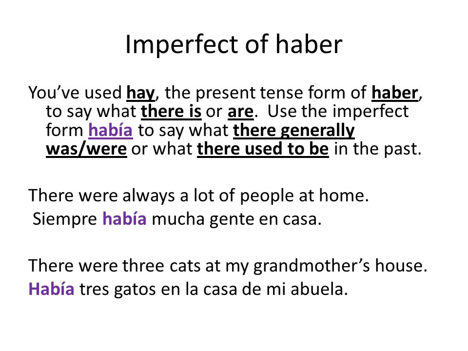 Imperfect of haber
