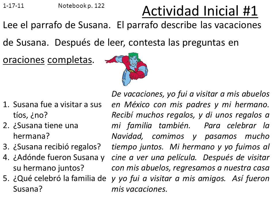 1-17-11Notebook p. 122. Actividad Inicial #1.