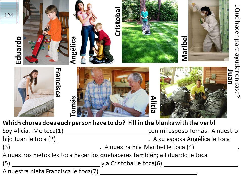 Cristobal Maribel Eduardo Angélica Juan Francisca Alicia Tomás