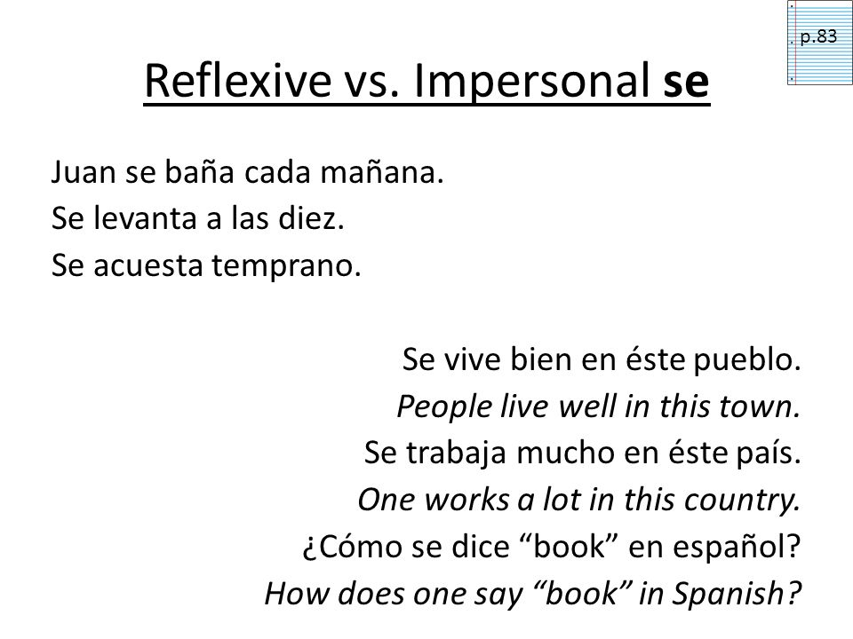 Reflexive vs. Impersonal se