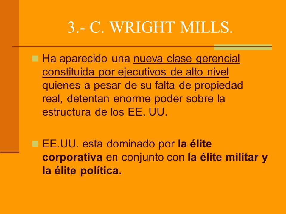 3.- C. WRIGHT MILLS.