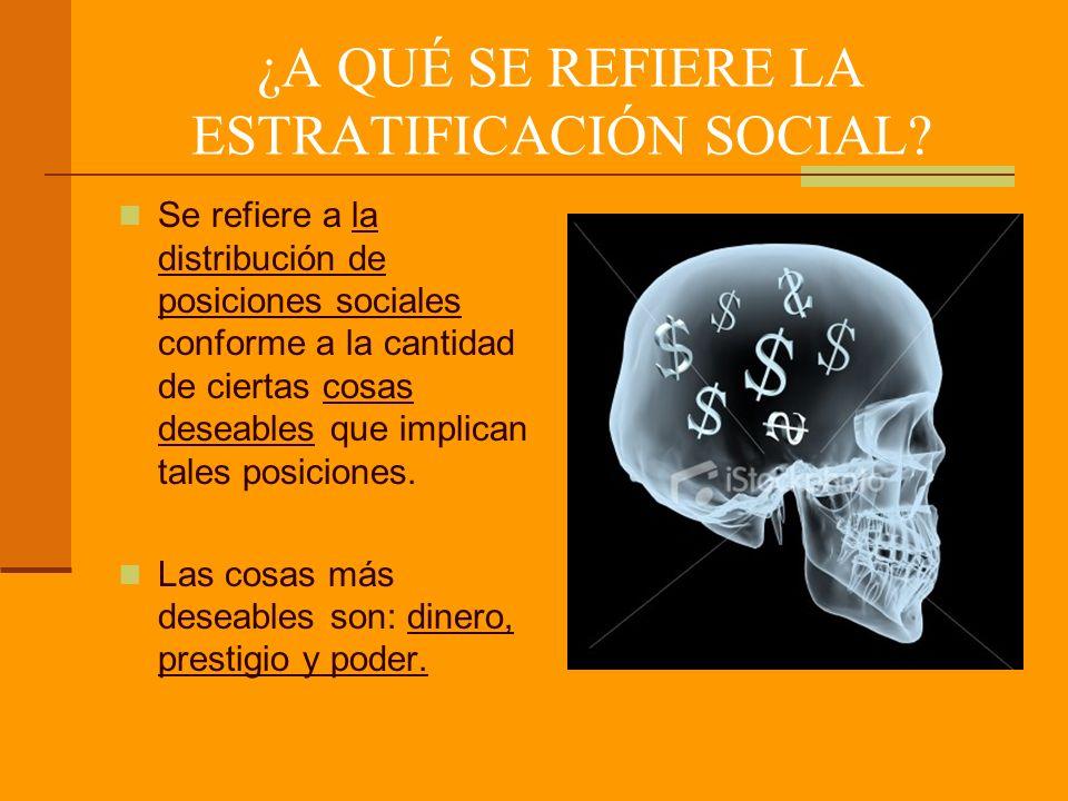 ¿A QUÉ SE REFIERE LA ESTRATIFICACIÓN SOCIAL