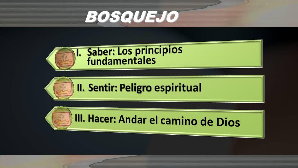 BOSQUEJO I. Saber: Los principios fundamentales