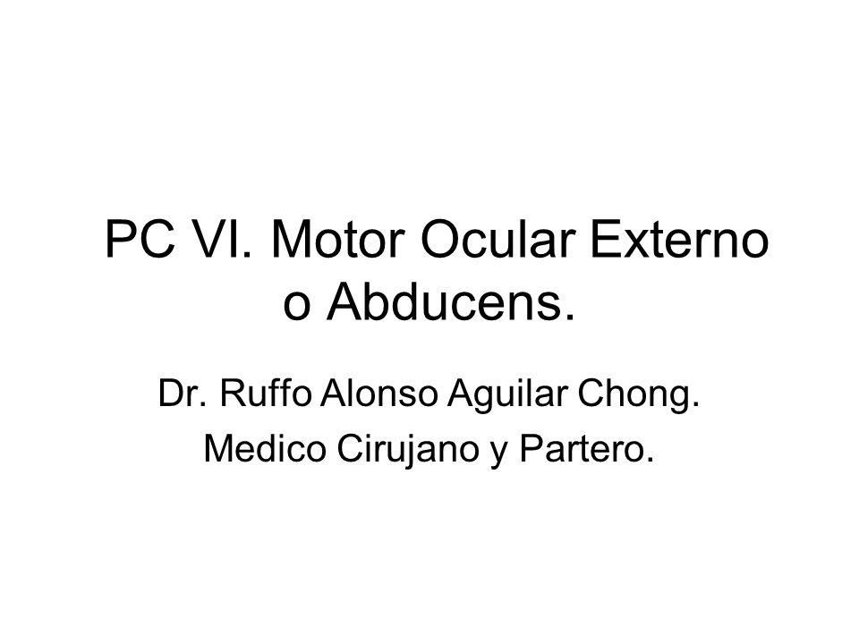 PC VI. Motor Ocular Externo o Abducens.
