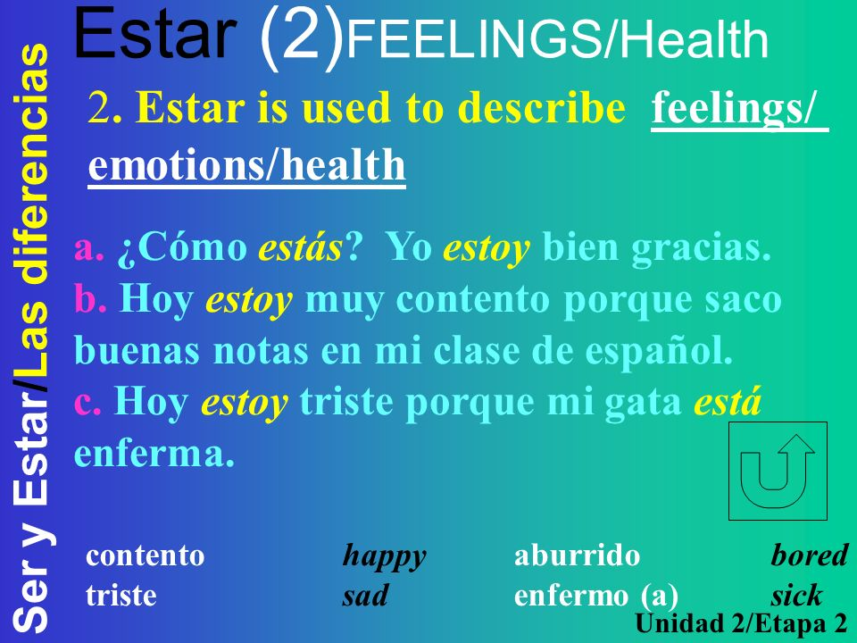 Estar (2)FEELINGS/Health