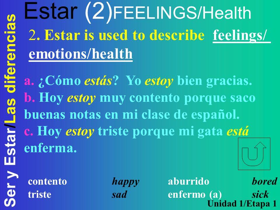 Estar (2)FEELINGS/Health