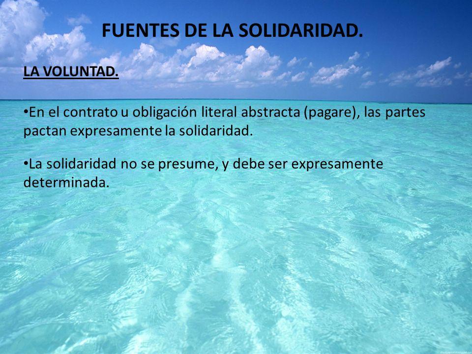 FUENTES DE LA SOLIDARIDAD.
