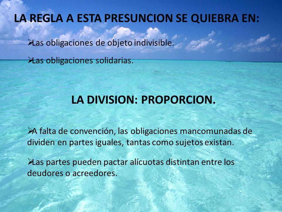 LA DIVISION: PROPORCION.