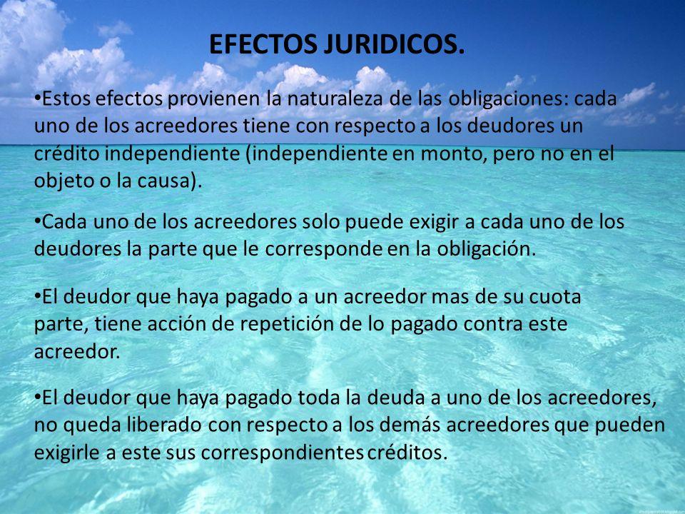 EFECTOS JURIDICOS.