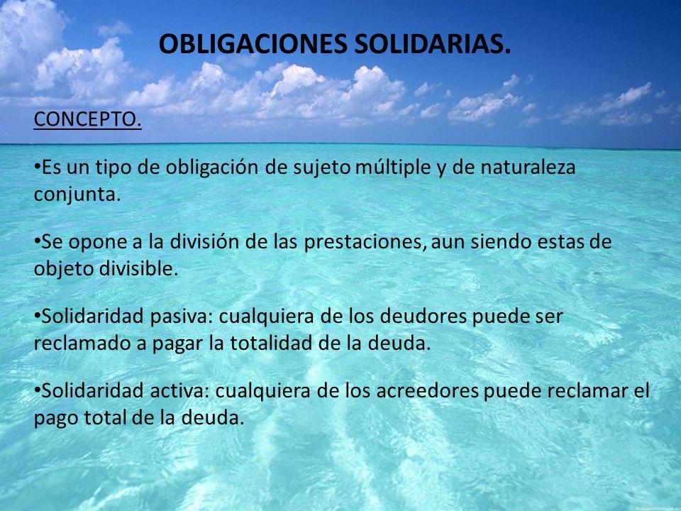 OBLIGACIONES SOLIDARIAS.