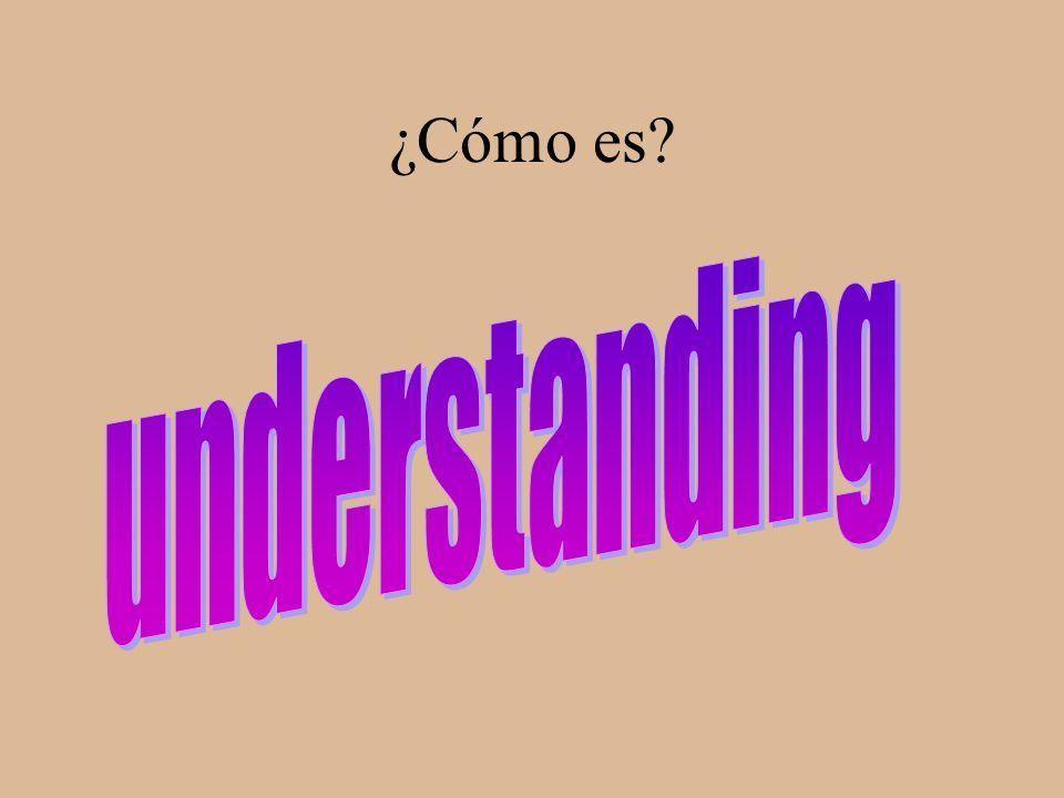 ¿Cómo es understanding