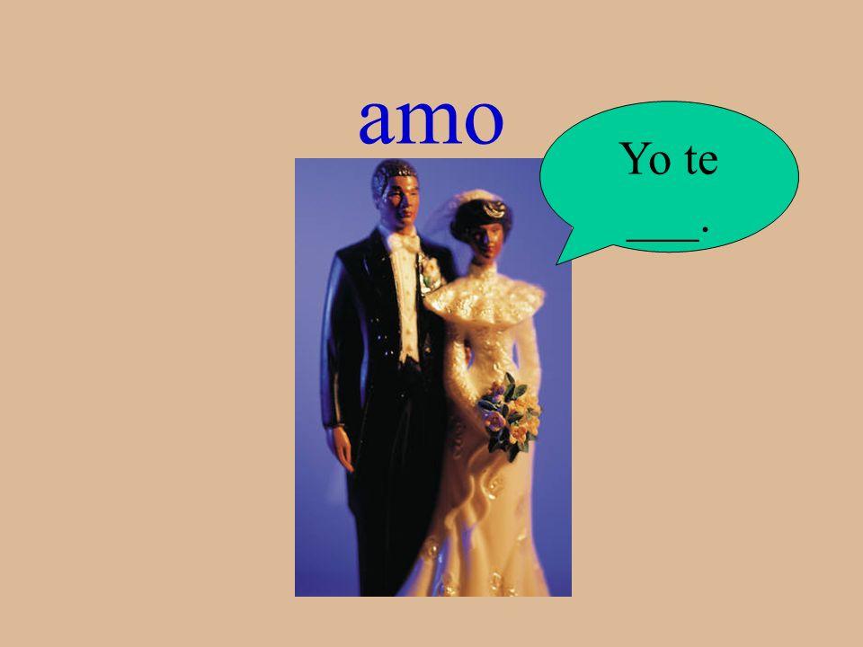 amo Yo te ___.