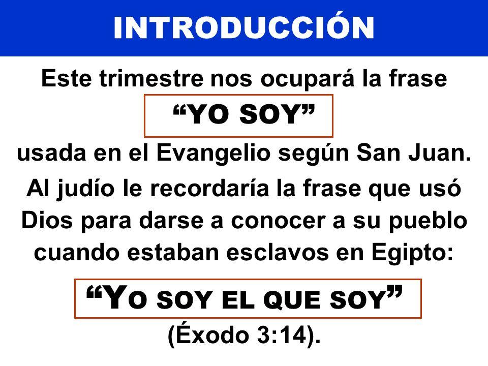 YO SOY EL QUE SOY (Éxodo 3:14).