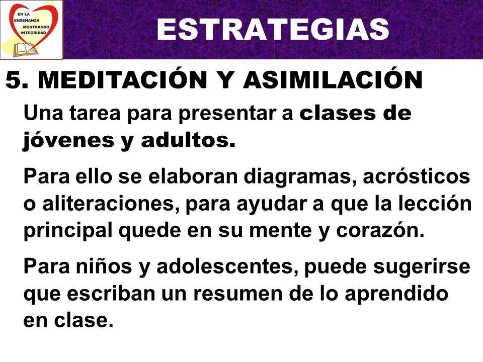 ESTRATEGIAS 5. MEDITACIÓN Y ASIMILACIÓN
