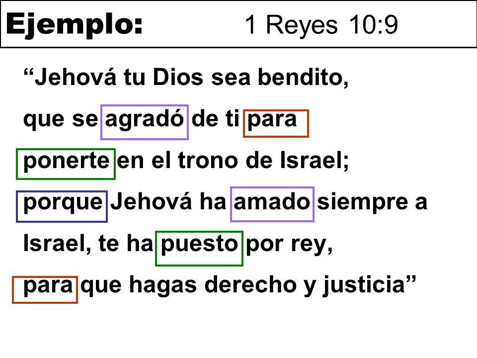 Ejemplo: 1 Reyes 10:9