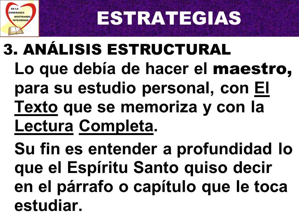 ESTRATEGIAS 3. ANÁLISIS ESTRUCTURAL.